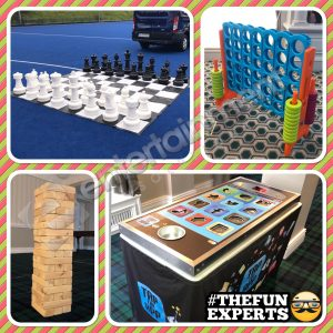 Giant Games package hire Giant Chess, Giant Connect 4, Giant Jenga, Giant Tap The App
